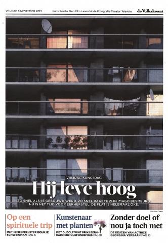 Volkskrant 8 november 2013 - 'Blokkendoos met een imagoprobleem'