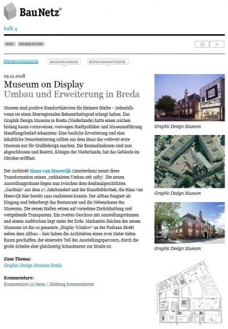 BauNetz.de - 'Graphic Design Museum Breda'