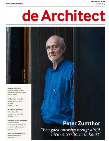 De Architect, sept 2014, 'Glazen liftkoker zoekt de grenzen op'