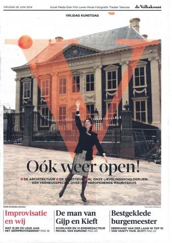 De Volkskrant 20 juni 2014, 'Oók weer open!'